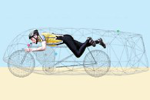 Graeme Obree's speed record bicycle